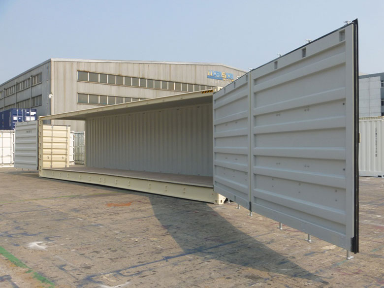One Trip Shipping Containers 40ft High Cube Open Side
