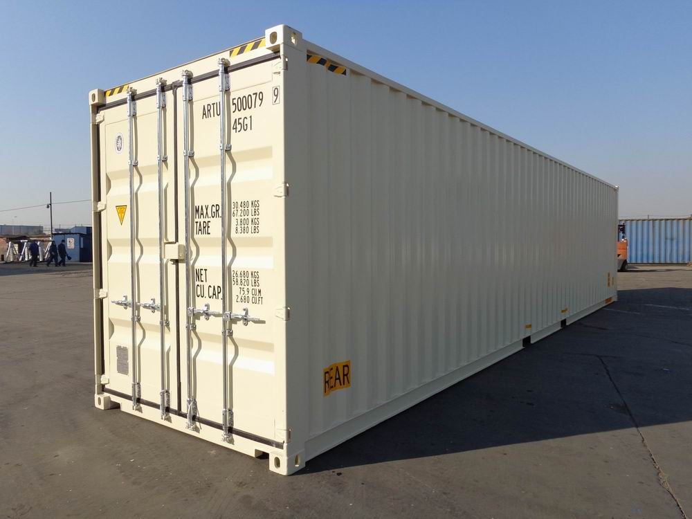 One Trip Shipping Containers - 40ft High Cube Double Door