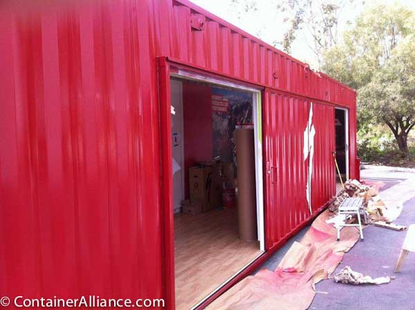 Shipping Container Modifications Steel Sliding Door