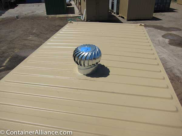 Shipping Container Modifications Turbine Vents